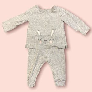 Carter's Bunny Mocked Layered Jump Suit Girls